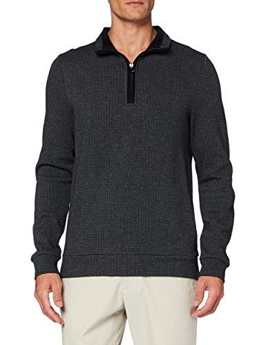 Pierre Cardin Herren Sweat-Shirt Minimal Check Sweatshirt, Black, 3XL