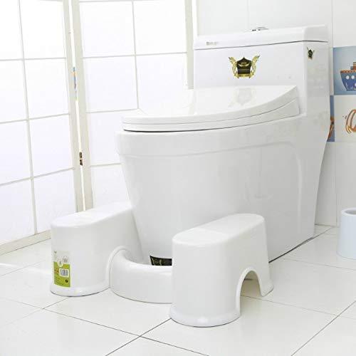 HMG plastica Ispessimento Bagno Antiscivolo Sgabello, Stile: Bianco Altezza 17,5 Centimetri +1 Scopino