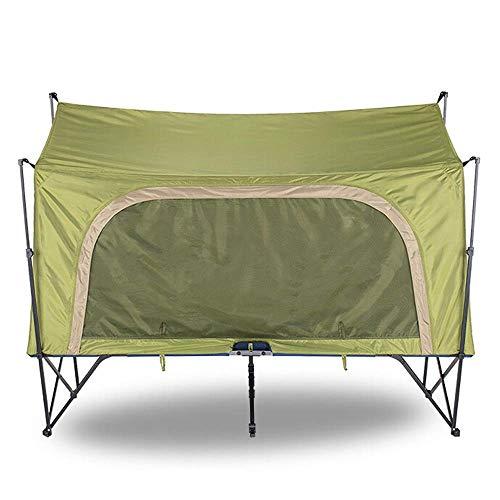 Winterzelt 2 Personen Wandern Camping Bett Automatisch 4 Jahreszeiten Outdoor Zelt Camping Reise Falten Wasserdicht Winterfischen Geeignet für Camping (Farbe: GreenX2 Größe: 200X80X126cm)