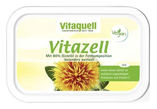Vitaquell Vitazell Pflanzen-Margarine 250 g mit essentiellen Fettsäuren und Vitamin E