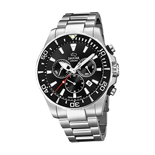 Reloj Jaguar caballero crono Executive acero esfera negra