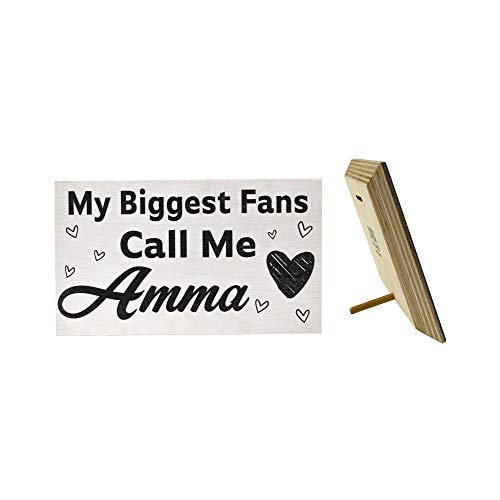 JennyGems - My Biggest Fans Call Me Amma - Mothers Day, Birthdays, Positive Signs, Amma Gifts, Made in USA, Real Wood