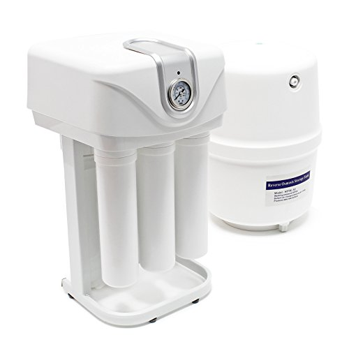 Naturewater Equipo de ósmosis inversa 5-Etapas 180l/día Bomba e indicador presión Filtración agua