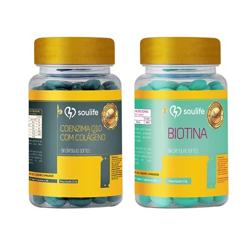 Combo - Biotina 150 caps + Coenzima Q10 com Colágeno 150 caps - Soulife
