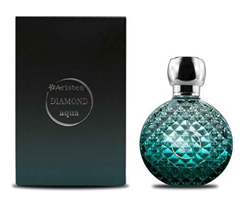 Aristea - Parfum Herren Diamond Aqua, Eau de Parfum, chypre-aquatisches Parfüm für Män-ner mit unvergesslichem Duft, Perfume for Men (1 x 50 ml)