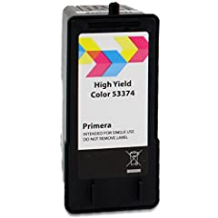 High yield Dye-based Tri-color (cyan, magenta, yellow) ink cartridge, also prints in monochrome black For use with: Primera LX500, LX500c, RX500 color label printers