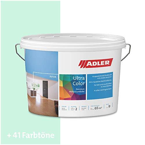 ADLER Ultra-Color Wandfarbe - Volltonfarbe und Abtönfarbe in 100+ Farbtönen - Frühlingszauber C12 065/6 Türkis 1 l Atmungsaktiv, Hochdeckend, Lösungsmittelfrei