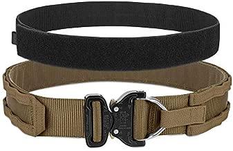PETAC GEAR Tactical Rigger's Belt with Cobra Buckle MOLLE Gun Belt Heavy Duty Belt Range Belt 1.75