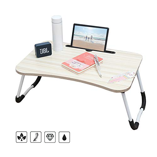 arvioo Mesa para portatil Mesa portatil Cama para Mesa Lapdesks para portatiles Altura Plegable 60 x40x 28 cm(Ranura)