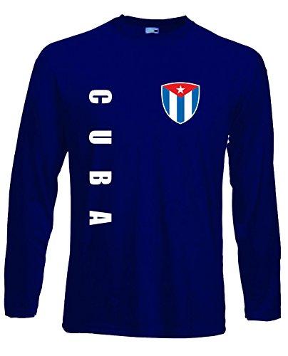 aprom Kuba Langarm T-Shirt Trikot LS-Spa Navy Longsleeve (M)