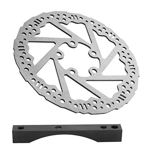 SALUTUYA Kit de freno de disco ligero para bicicleta, Rotor de disco de freno Adaptador de montaje de conversión de 135 mm Ajuste con 5 tornillos Disco de freno para Scooter eléctrico M365 PRO