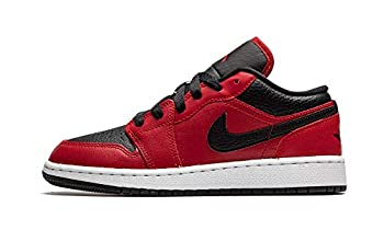 Jordan Youth AIR 1 Low 553560 605 Black Pebbled - Size 6.5Y