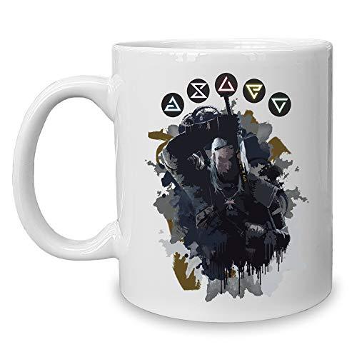 shirtdepartment - Kaffeebecher - Tasse - Gaming & Film Motive Hexer - Geralt