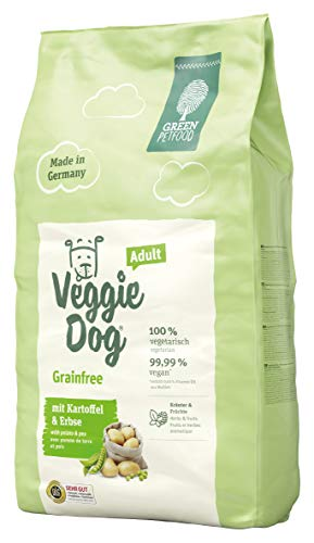 Green Petfood VeggieDog Grainfree (1 x 10 kg) | vegetarisches und getreidefreies Hundefutter | nachhaltiges Trockenfutter für ausgewachsene Hunde | 1er Pack