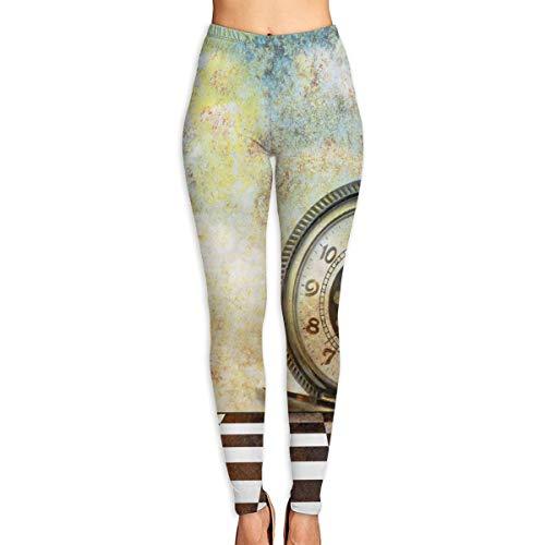 Harry wang Pantalon de Yoga pour Femmes Design Abstrait composé d'un Fond rêveur avec Un Pantalon d'entraînement Taille Haute pour Montre de Poche