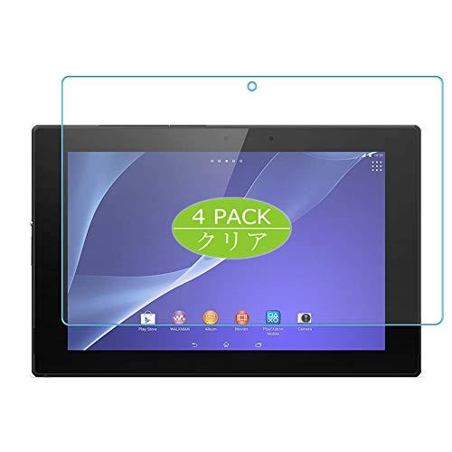 Vaxson - 4 pellicole protettive per display per Sony Xperia Z2 Tablet SGP 512 511 541 10.1', senza bolle, in TPU