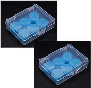Tapones para los oídos de silicona para dormir; Tapones auditivos suaves y reutilizables para dormir, nadar o viajar. 6 pares. (Azul)