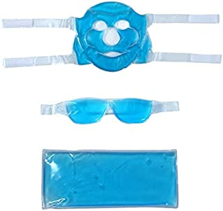 Anti-Fatigue Cooling Gel Face Eye And Cool Pack Mask (Pack of 3)