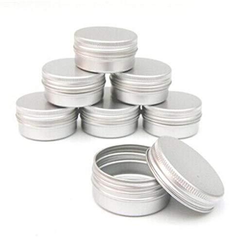 10pcs Bálsamo de uñas de Arte Cosmética Crema Maquillaje de Labios Pot Tarro de la Lata del envase del Caso