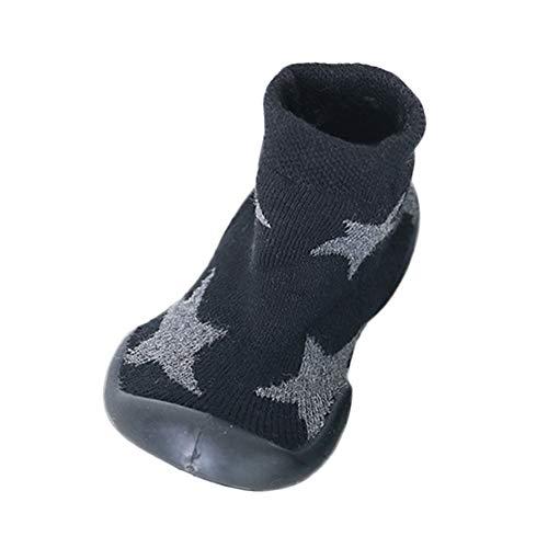 MAYOGO Niños Invierno Calentar Suela de Goma Tejer Calcetines de Piso para Recién Nacido Bebé Antideslizantes Dibujo Animado Bebé Medias Algodón Zapatos de Primeros Pasos 0-3 Años