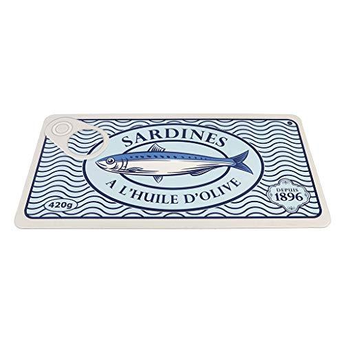Balvi Alfombra Cocina Sardines Acolchada y de fácil Limpieza Plástico PVC 99x51 cm