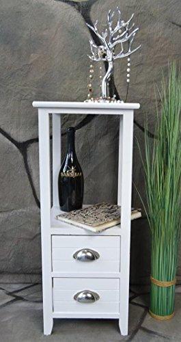 Livitat® Beistelltisch Kommode Konsole Konsolentisch 73 cm Telefontisch Landhaus Weiß LV1044