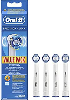 Braun Precision Clean Replacement Toothbrush Heads, Pack of 4