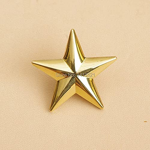Lysee Nails - 6 pieces brass pentagram decorative buckle leather