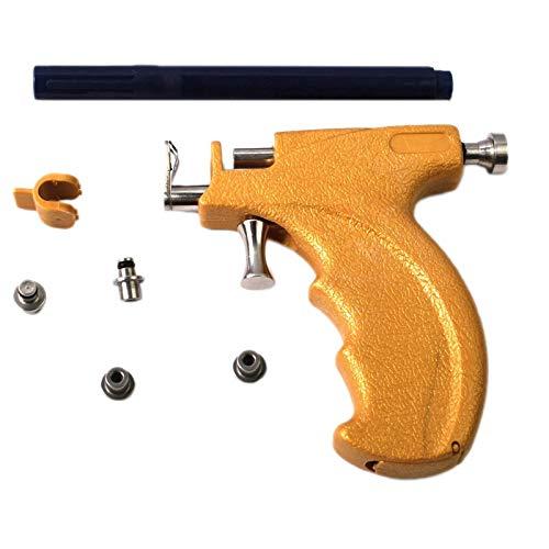 SODIAL Kit de Herramientas de PerforacióN de Pendientes de Perno Prisionero de Oreja Profesional Juego de PerforacióN Corporal de CartíLago de LóBulo de Oreja Reutilizable