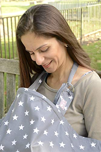 Fascia allattamento grembiule coperta – 100% Cotone - Realizzato in Europa - con allacciamento regolabile per il collo - Sciarpa copertura di allattam