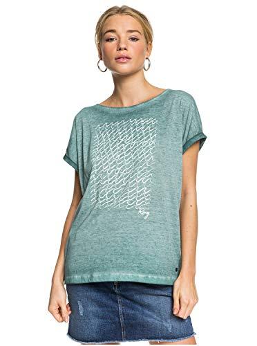 Roxy Summertime Happiness - Camiseta para Mujer Camiseta, Mujer, North Atlantic, XS