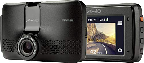 Mio MIVUE 731 Dashcam mit GPS Blickwinkel horizontal max.=130° Display, Auffahrwarner