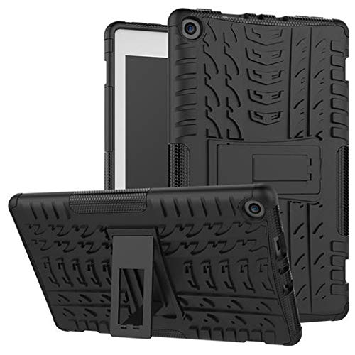 Easter's Best Gift !!! Cathy Clara Rubber/Silicone+Plastic Tablet Case for Amazon Kindle Fire HD 8 2017/2018 Shockproof Hybrid Rubber Stand Case Cover