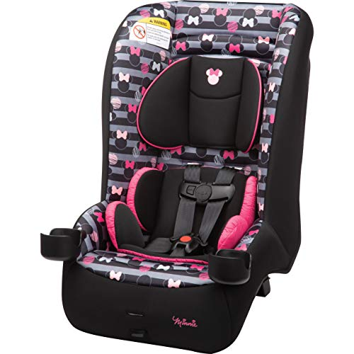Disney Baby Jive 2-in-1 Convertible Car Seat, Minnie Stripes