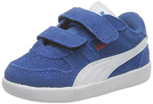 PUMA ICRA Trainer SD V Inf, Zapatillas Unisex Niños, Star Sapphire White/Poppy Red, 26 EU