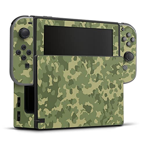 DeinDesign Skin kompatibel mit Nintendo Switch Folie Sticker Bundeswehr Muster Camouflage