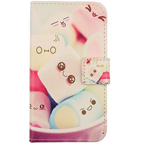 """Lankashi Housse Case Cuir Cover Flip Etui Coque Protection Skin pour Logicom Le Hop 6.18"""" Lovely Design"""