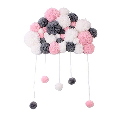 N/P Nordic Style Soft Wool Ball Handmade Colorful Wall Decorations Hanging Kindergarten Garland Children Room Decoration
