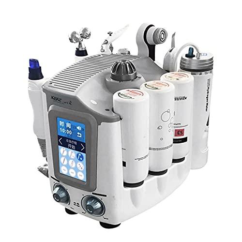 ZYQDRZ Máquina De Terapia De Oxihidrógeno 6 En 1, Dispositivo De Belleza De Burbujas Pequeñas, Detector De Piel De Alta Definición, Equipo De Cuidado Facial De Espuma para Salones De Belleza