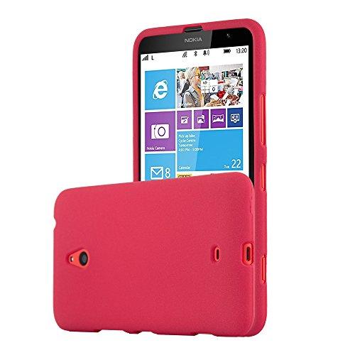 Cadorabo Funda para Nokia Lumia 1320 en Frost Rojo - Cubierta Proteccíon...