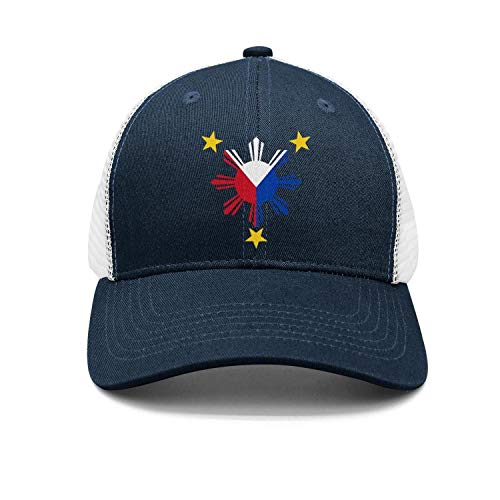 TEKEN Filipino Philippine National Flags Unisex Fashion Mesh Baseball Caps Adjustable Snapback Trucker Hats
