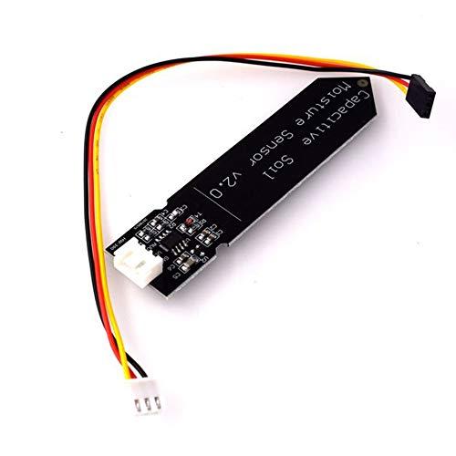 Silverdrew Sensor capacitivo de humedad del suelo no es fácil de corroer Operación de voltaje amplio Alimentación de alambre Negro - Negro