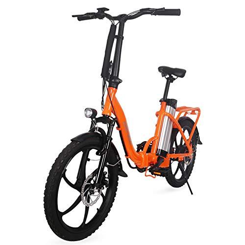 Bicicleta Plegable Eléctrico E De Bicicletas, hasta 30 Km/H, 20 Pulgadas Ajustable...