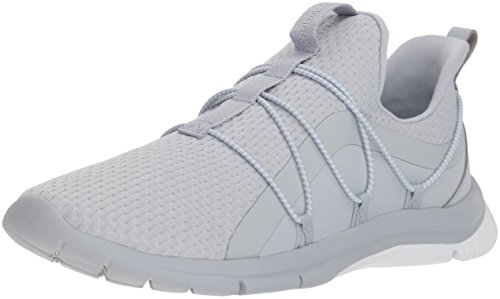 Reebok Women's Print Her 3.0 Lace Running Shoe, Cloud Grey/White/Spirit w, 5 M US