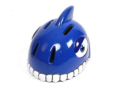 Kinder Fahrrad Helm Sturzhelm HAI Shark blau TÜV GS geprüft