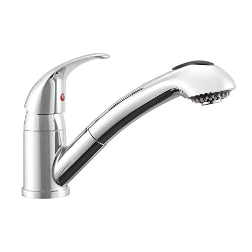 Dura Faucet DF-NMK852-CP RV Pull-Out Swivel Kitchen Sink Faucet (Chrome)