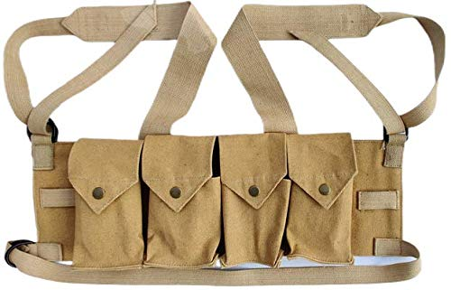 WARCRAFT EXPORTS Rhodesian Fereday & Sons Chest Rig Bush War Magazine Tactical Canvas 4 Mag Pouch Chest Rig