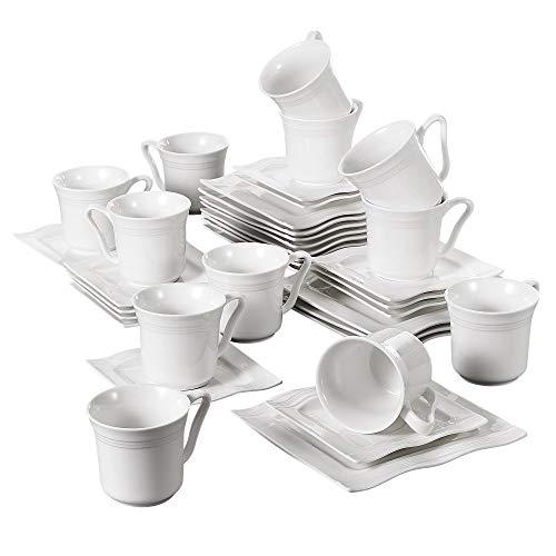 MALACASA, serie Mario, 36 piezas Juegos de Café de Porcelana servicio de...