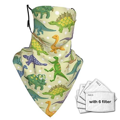 Unisex Sturmhaube mit Dinosaurier-Muster, Gesichtsbedeckung, Schal, Halstuch, Staubmaske mit Fiters