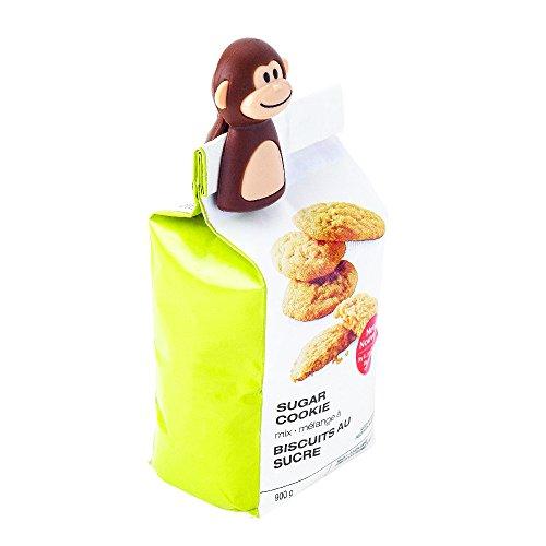 Joie Kitchen Gadgets 77729 2 clips para bolsas, plástico, Marrón/Beige